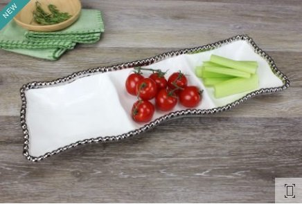 3-Sectional Serving Piece