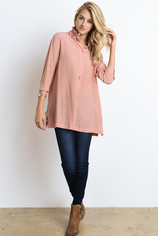 Dusty Rose Woven Top