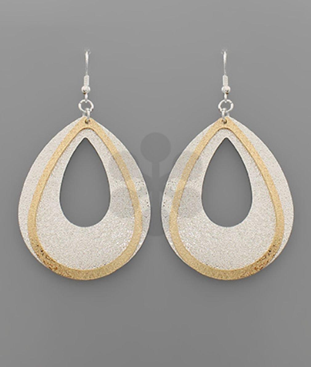 Textured Teardop Earrings
