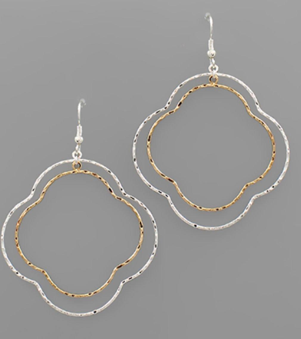 Two-Tone Multi Clover Earrings