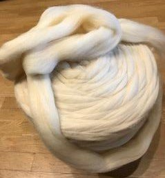 Wool roving- natural color
