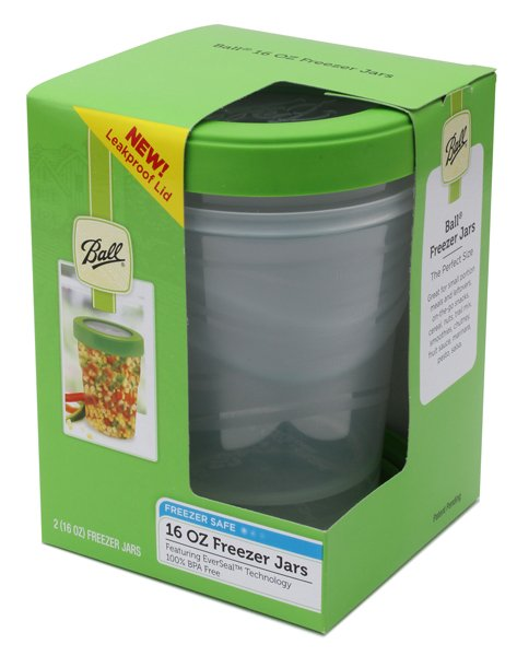 Plastic 16oz Freezer Jar - Set of 2