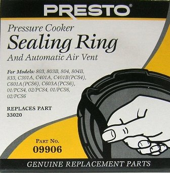 Presto Pressure Cooker Sealing Ring - For 3, 4 & 6 Qts