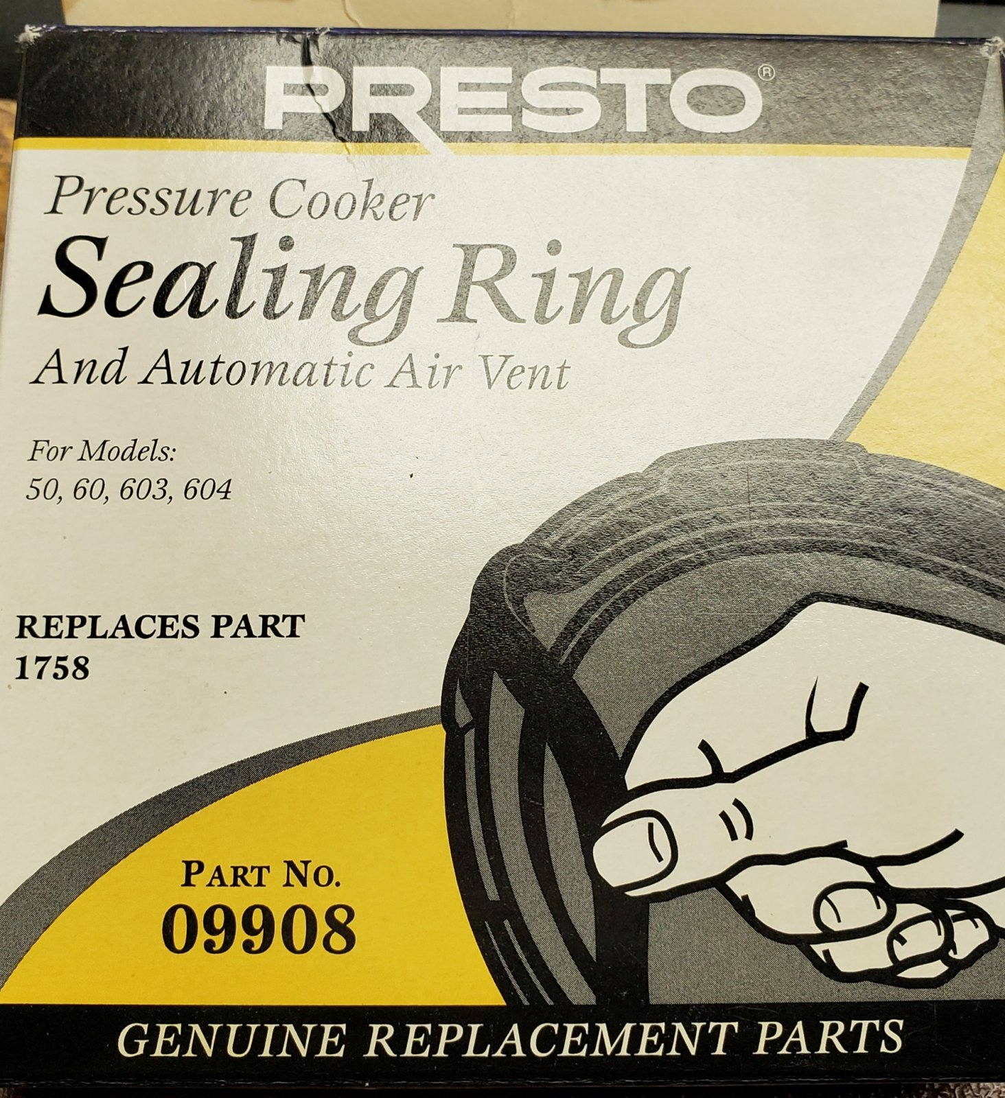 Presto Pressure Cooker Sealing Ring - For 3 & 4 Qts