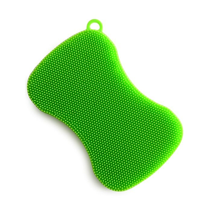 Norpro Silicone Dish Brush - Green Bow Tie