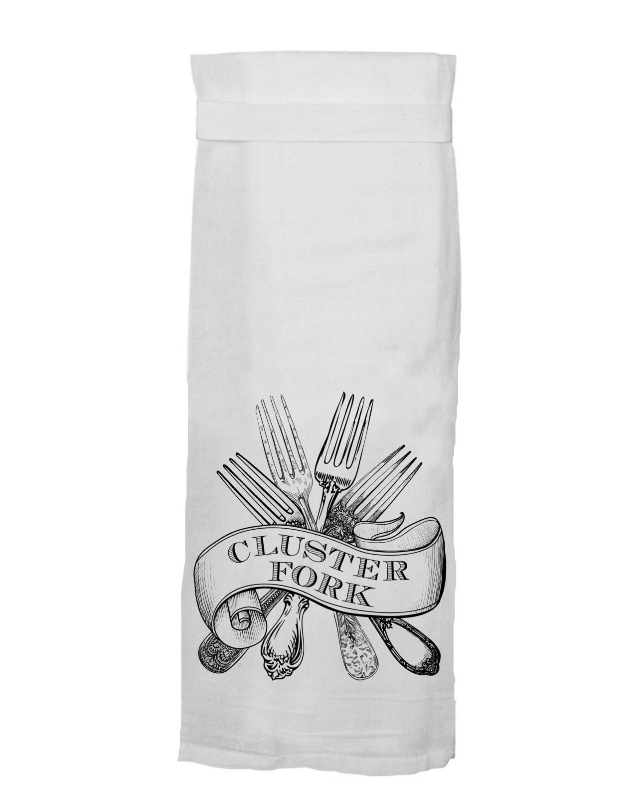 Flour Sack Towel - Cluster Fork