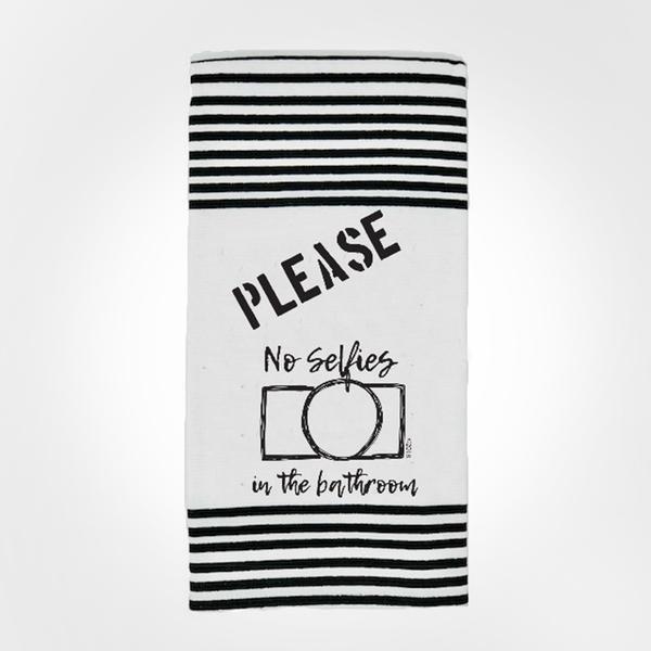 Terry Towel - No Selfies