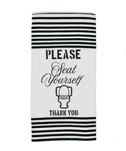 Terry Towel - Please Seat Yourself