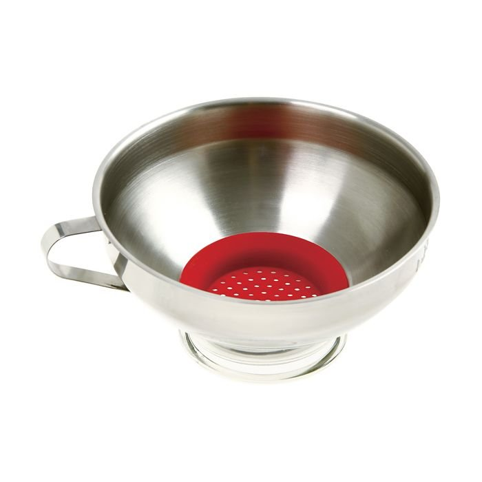 Norpro SS Wide Mouth Funnel with Silicone Strainer
