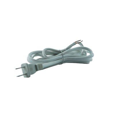 Lamp Cord 8' SPT-2 - White Rayon