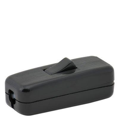 In-Line Rocker Cord Switch - Black