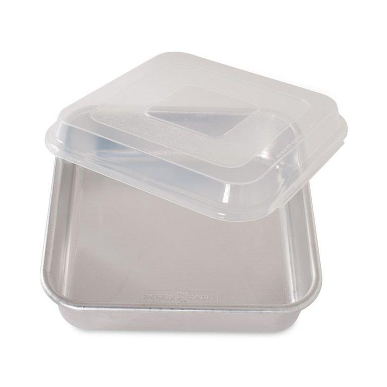 Square Cake Pan w/ Lid