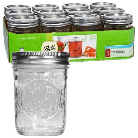 Reg Mouth 1/2 Pint Mason Jars