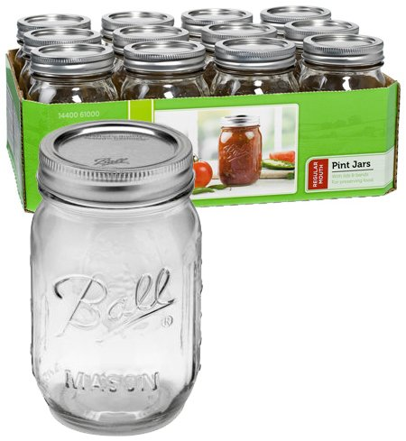 Reg Mouth Pint Mason Jars