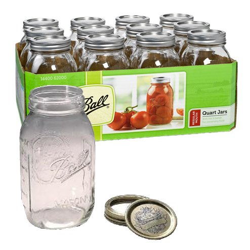 Reg Mouth Quart Mason Jars