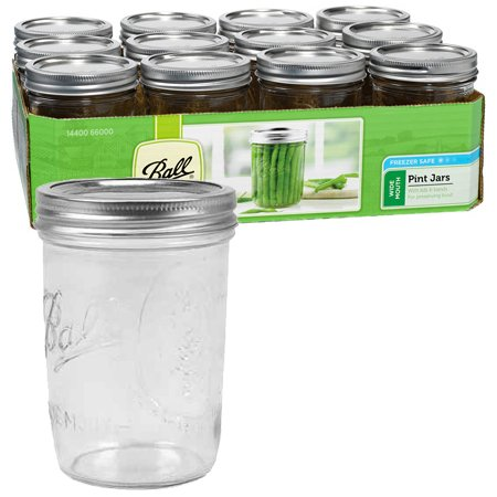 Wide Mouth Pint Mason Jars