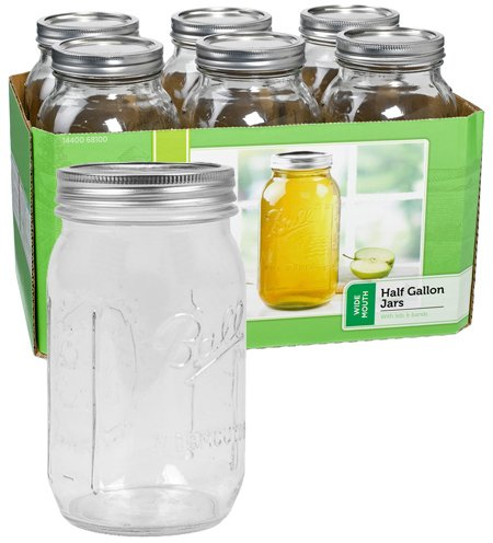Wide Mouth 1/2 Gallon Mason Jars