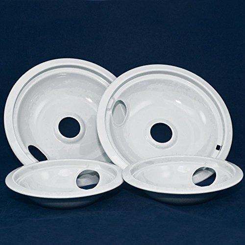 6 DRIP PAN - LIGHT GRAY PORCELAIN -W/ HOLE