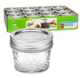 4oz Reg Mouth Quilted Crystal Jelly Jars - 80400