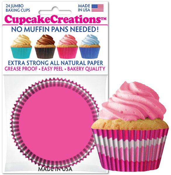 Cupcake Liners Jumbo - Pink Swirl