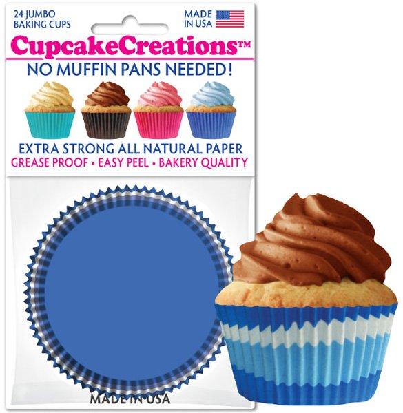 Cupcake Liners Jumbo - Blue Swirl