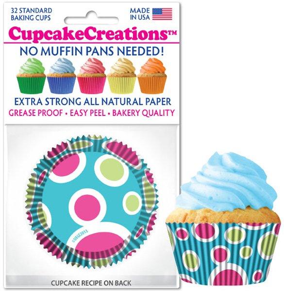 Cupcake Liners - Blue Fiesta