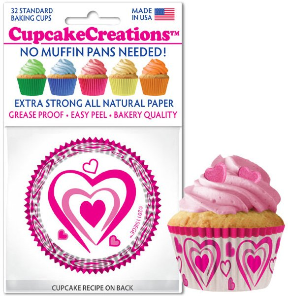 Cupcake Liners - Happy Hearts