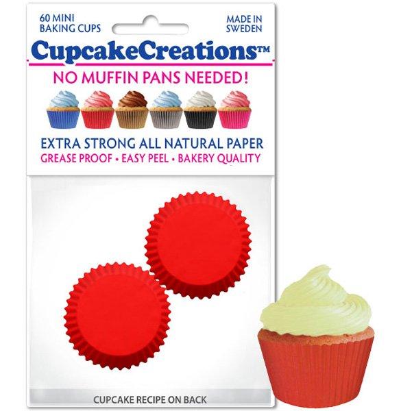 Cupcake Liners Mini - Red