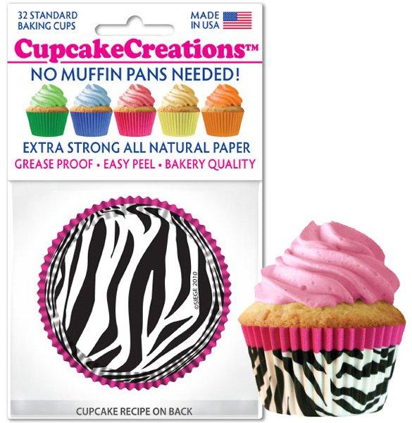 Cupcake Liners - Pink Zebra