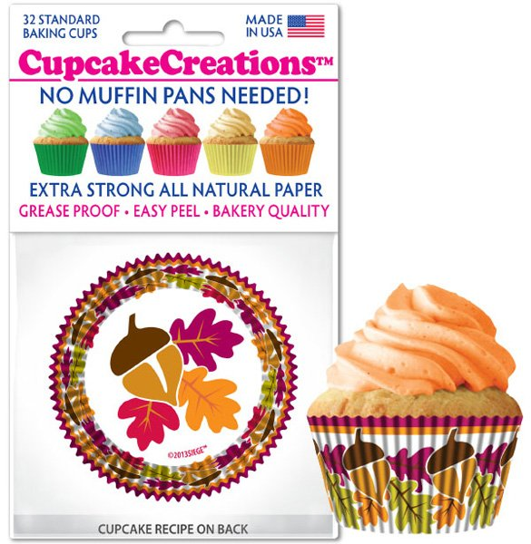 Cupcake Liners - Autumn Leaves