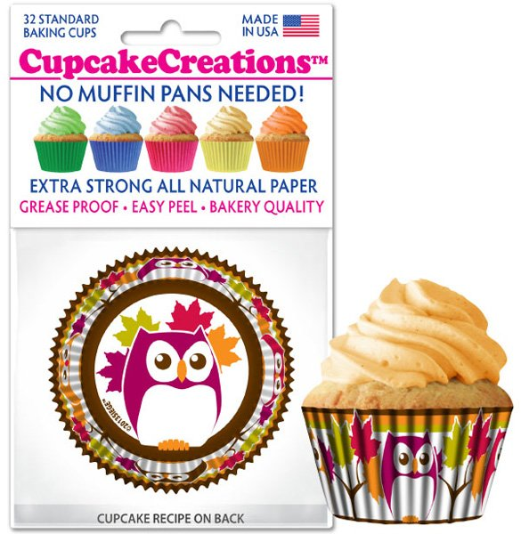Cupcake Liners - Owls
