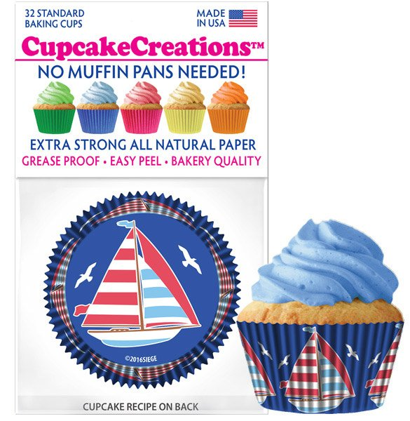Cupcake Liners - Sailboats