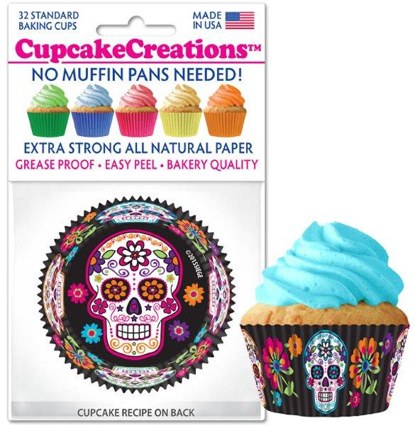 Cupcake Liners - Sugar Skulls