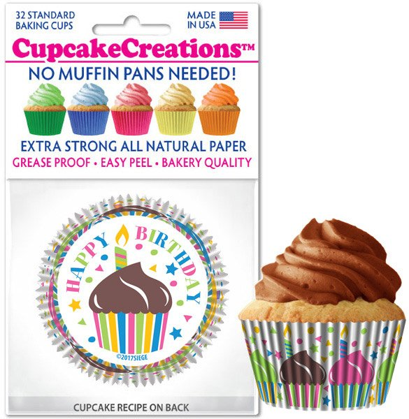 Cupcake Liners - Happy Birthday
