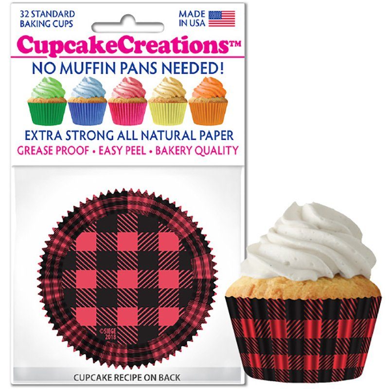 Cupcake Liners - Buffalo Plaid