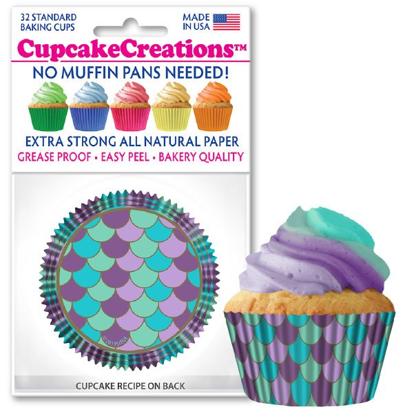 Cupcake Liners - Mermaid Scales