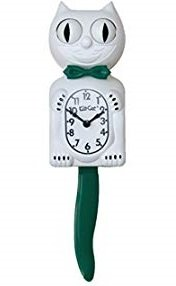 Kit-Cat Clock - Candy Cane Green