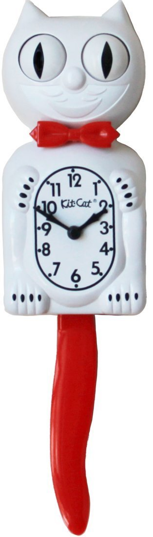 Kit-Cat Clock - Candy Cane Red