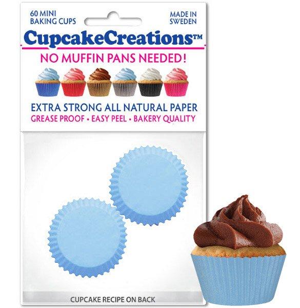 Cupcake Liners Mini - Blue