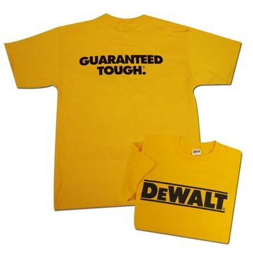 DeWalt T-Shirt - Yellow - Small