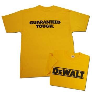 DeWalt T-Shirt - Yellow - Large