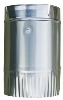 Dryer Duct 4 Round to Oval Adaptor - Crimped- DN109