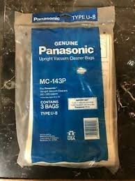 Panasonic type U-8 Vacuum bags 3 pack