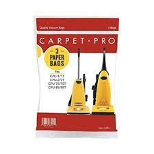 Carpet Pro Upright Vacuum Bag - 3pk