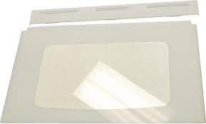 Outer Oven Door Glass - White