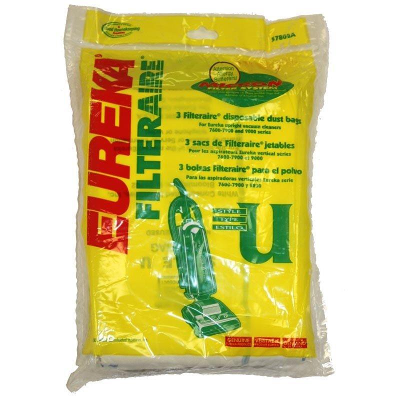 Eureka Vacuum Bags - Style U FILTER (3-pack)