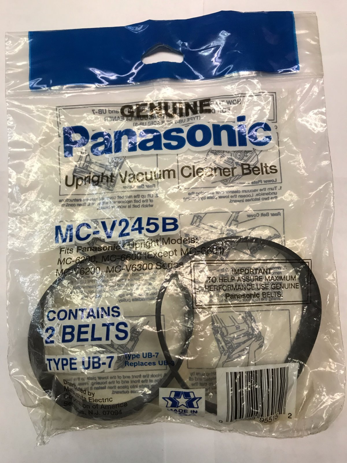 Panasonic Belt Type UB7 - 2pk