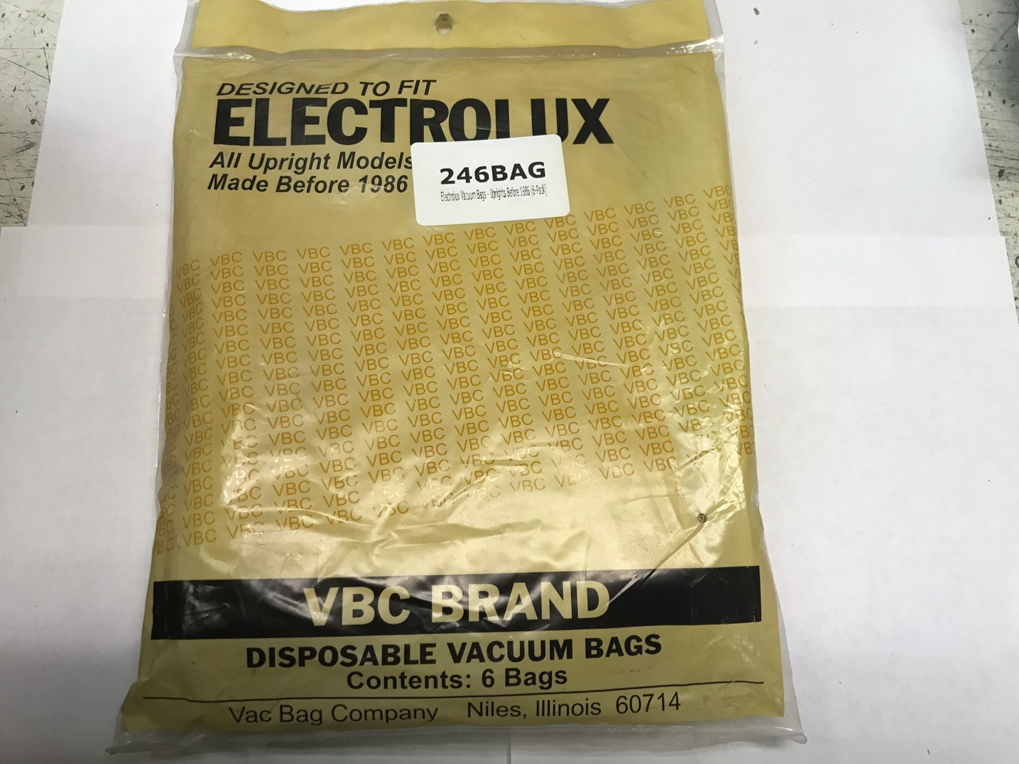 Electrolux Vacuum Bags - Uprights Before 1986 (6-Pack)