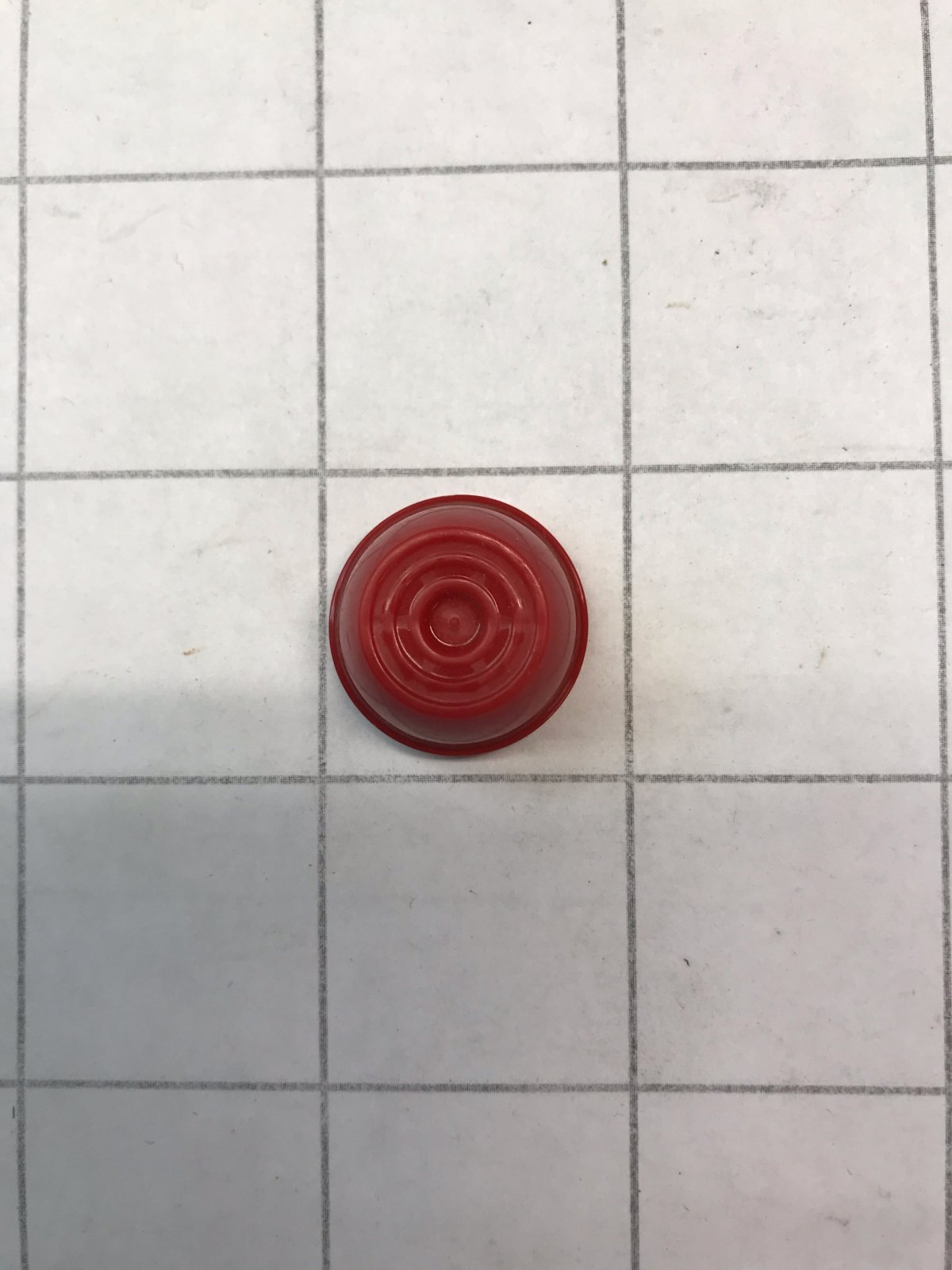 Push Nut .312 Retainer Cap Red