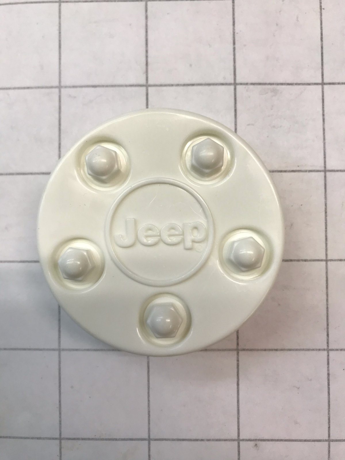 Jeep Hubcap Center - White